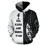 New Zealand Rugby Hoodie, Kia Kaha And Bring It On Pullover Hoodie K4 - 1st New Zealand