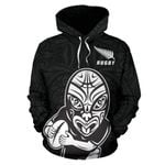 New Zealand Rugby Hoodie, Haka Dance Rugby Pullover Hoodie K4 - 1st New Zealand