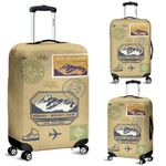 New Zealand Post Stamp Luggage Cover, New Zealand Suitcase Covers - 1st New Zealand