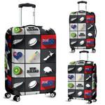 New Zealand Symbols Luggage Cover, New Zealand Suitcase Covers  K5 - 1st New Zealand