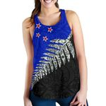 New Zealand Maori Silver Fern Flag Racerback Tanks K4 - 1st New Zealand
