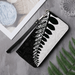 New Zealand Silver Fern Wallet Black White K4 - 1st New Zealand