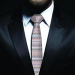 New Zealand Neck Tie, Maori Pattern Classic Necktie (Two Sides) 23 K4 - 1st New Zealand