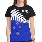 Silver Fern Flag New Zealand T Shirt - 1st New Zealand