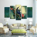 New Zealand Tui Bird Framed Canvas (5 Pieces) - 1st New Zealand