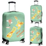 New Zealand Map Luggage Cover, Symbol Suitcase Covers K5 - 1st New Zealand