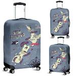 New Zealand Map Luggage Cover, New Zealand Suitcase Covers K5 - 1st New Zealand