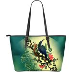 Siver Fern With Tui Large Leather Tote Bag K5 - 1st New Zealand