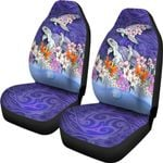 Sea Turtle Polynesian Car Seat Covers Tropical Floral K4