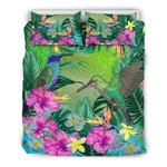 Hummingbird Bedding Set Tropical Hibiscus Flower Duvet Cover TH5