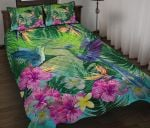 Hummingbird Quilt Bed Set Tropical Hibiscus Flower TH5