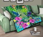 Hummingbird Premium Quilt Tropical Hibiscus Flower TH5