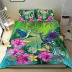 Hummingbird Bedding Set Tropical Hibiscus Flower TH5