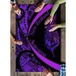 Light Silver Fern Maori Puzzle Circle Style, Purple J95