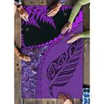 Paua Shell Maori Silver Fern Puzzle Purple K5