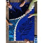 Paua Shell Maori Silver Fern Puzzle Cobalt K5
