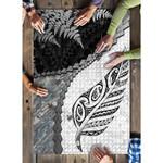Paua Shell Maori Silver Fern Puzzle White K5