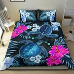 Love Turtle Bedding Set Hibiscus, Palm Leaves TH5