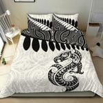 Aotearoa Bedding Set Maori Manaia Silver Fern Duvet Cover and Pillow Cases A025