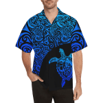 Turtle Hawaiian Shirt Blue Turtle Polynesian TH5