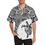 Turtle Hawaiian Shirt White Turtle Polynesian TH5