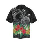 Turtle Polynesian Hawaiian Shirt Hibiscus with Plumeria TH5