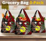 New Zealand Australia Grocery Bag 3-Pack - Maori Aboriginal K4