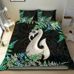 Aotearoa Bedding Set Manaia Silver Fern Paua Shell TH45