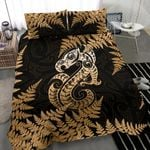 Aotearoa Bedding Set Gold Manaia Silver Fern TH45