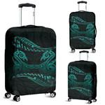 Aotearoa Luggage Turquoise Maori Manaia with Silver Fern TH5