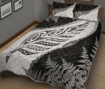 Paua Shell Maori Silver Fern Quilt Bed Set 2 K5