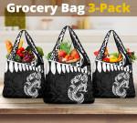 Aotearoa Grocery Bag 3-Pack - Maori Manaia A025