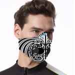 Maori Biker Respirator Mask White K5