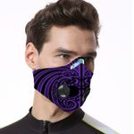 Maori Biker Respirator Mask Purple K5