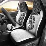 Aotearoa Car Seat Covers - Maori Manaia Silver Fern White