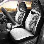 Aotearoa Car Seat Covers - Silver Fern Maori Manaia White