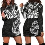 Aotearoa Women's Hoodie Dress Maori Manaia A025