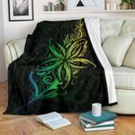 Light Fern Frangipani Premium Blanket, Green K5