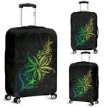 Light Fern Frangipani Luggage Covers, Green K5