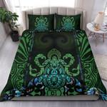 Maori Manaia mix Turtle Bedding Set - Maori Moko Face Duvet Cover and Pillow Cases