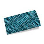 Polynesian Tribal Womens Wallet Blue K5
