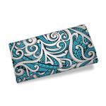 Maori Tribal Ornament Womens Wallet Blue K5