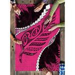 Paua Shell Maori Silver Fern Puzzle Pink 02 K5