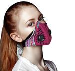 Paua Shell Maori Silver Fern Respirator Mask Pink K5