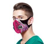 Paua Shell Maori Silver Fern Sport Mask Pink K5