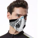 Paua Shell Maori Silver Fern Respirator Mask White K5