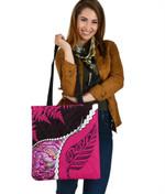 Paua Shell Maori Silver Fern Tote Bag Pink K5
