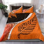 Abalone Shell Maori Silver Fern Bedding Set Orange K5
