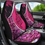 Paua Shell Maori Silver Fern Car Seat Covers Pink K5