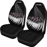 New Zealand Haka Rugby Car Seat Covers - Best Silver Fern Black K4